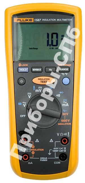 Fluke 1587 - мультиметр-мегаомметр 50-1000 В