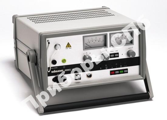 MMG 10 - прибор для измерения ПЭ/ПВХ оболочек кабеля при испытании напряжением (до 10 кВ), максимальный ток 0,5 А