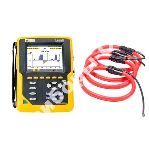 C.A 8336 QUALISTAR PLUS+AmpFlex 450 - анализатор параметров электросетей, качества и количества электроэнергии (с клещами AmpFlex 450 мм)