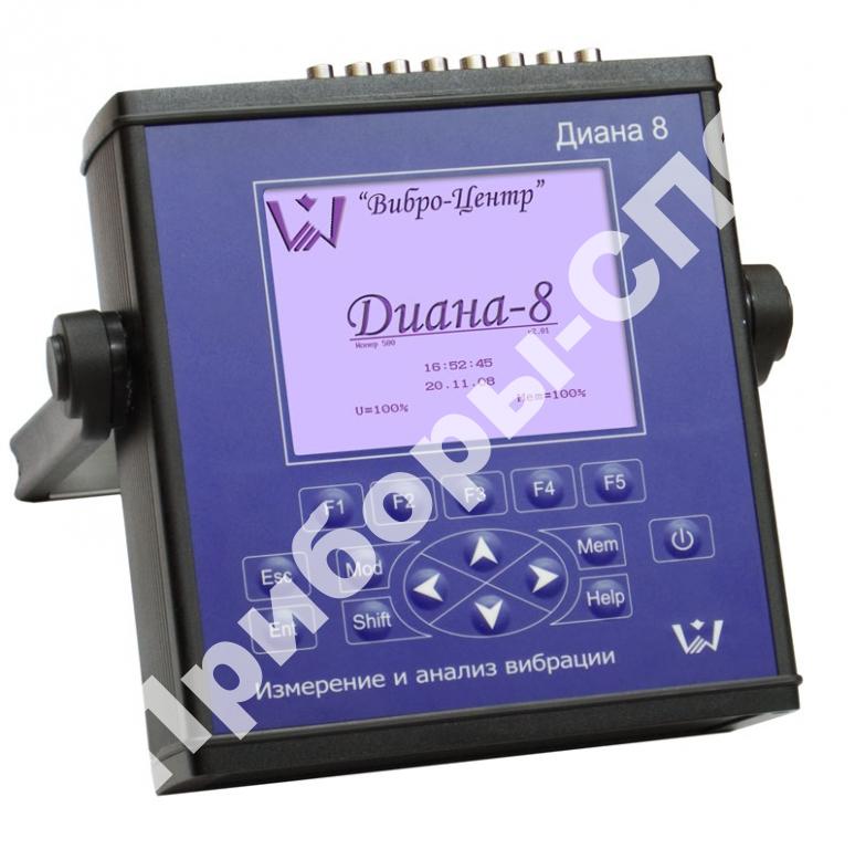 Диана-8 - восьмиканальный анализатор вибросигналов (виброанализатор)