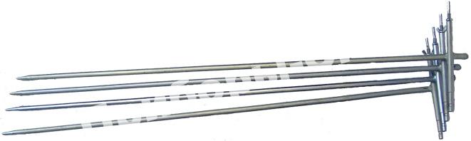 Комплект штырей заземления РЛПА.305177.004 - 1 м. 4 шт. с сумкой